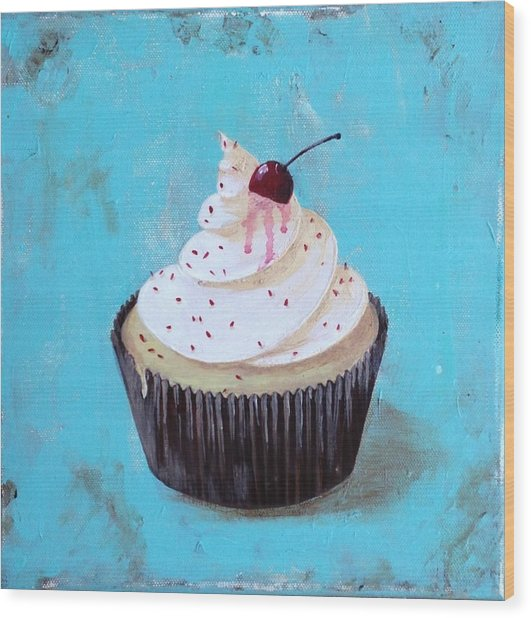 With A Cherry On Top Wood Print