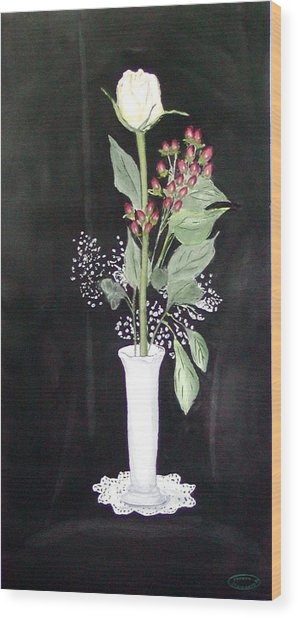 With Love Wood Print by Sharon Steinhaus