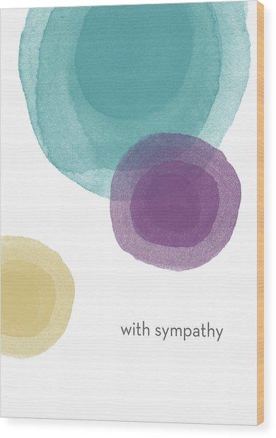 With Sympathy Circles- Art By Linda Woods Wood Print