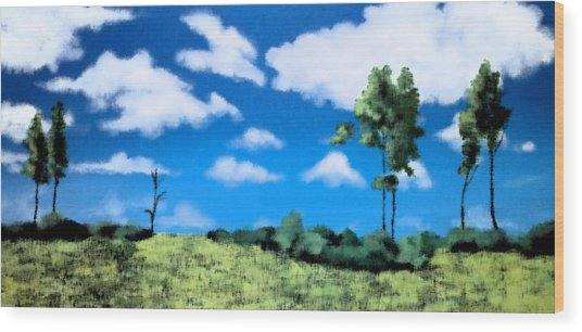 Within My View Wood Print by Gousalya Siva