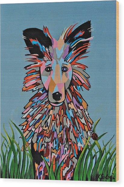 Wiz - Dog Art Wood Print
