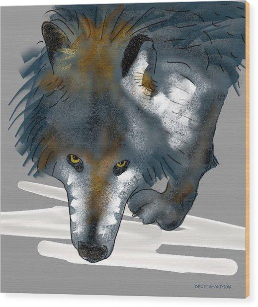 Wolf. Wood Print
