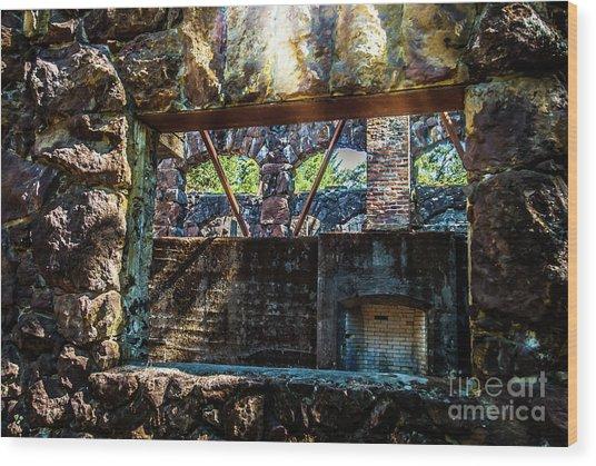 Wolf House Wood Print