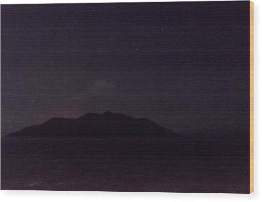 Wolf Volcano Before Eruption Wood Print