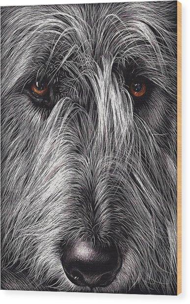 Wolfhound Wood Print