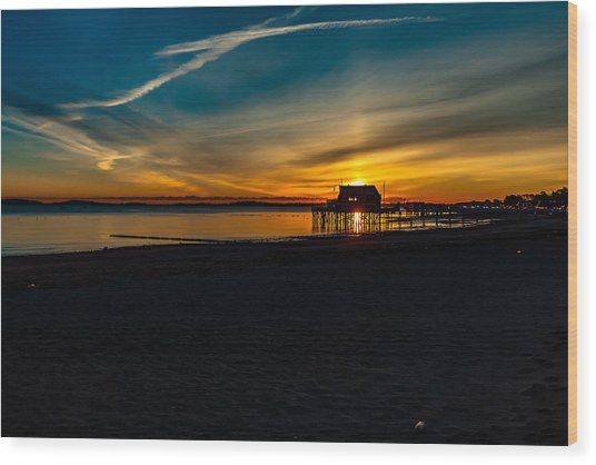 Wollaston Beach Sunrise 3 Wood Print