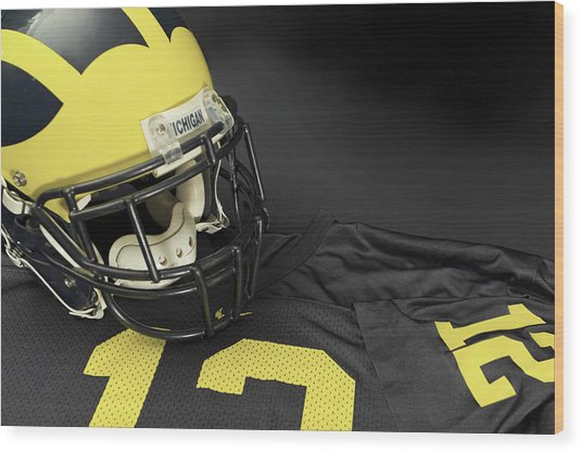 Wolverine Helmet With Jersey Wood Print