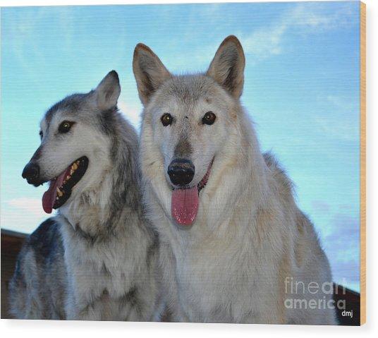 wolves IV Wood Print