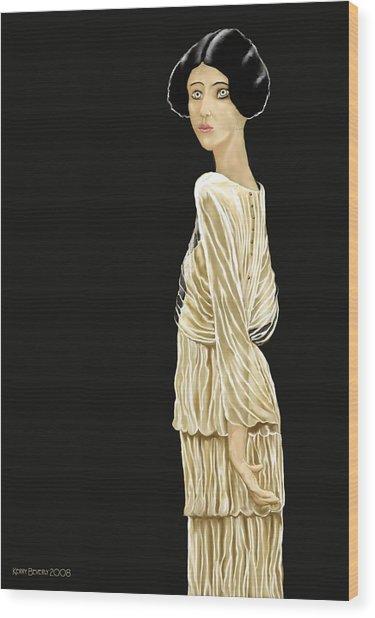 Woman 36 Wood Print