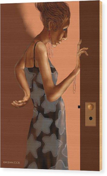 Woman 37 Wood Print