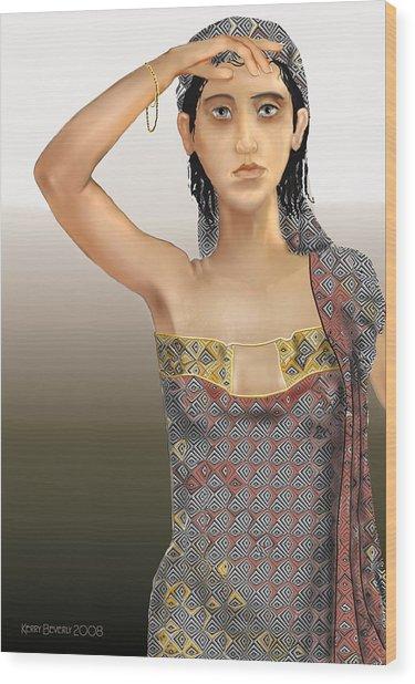 Woman 5 Wood Print