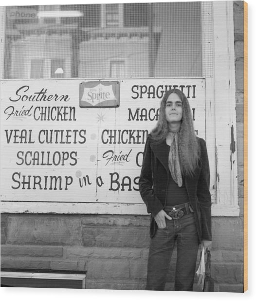 Woman Contemplates Scallops, 1972 Wood Print