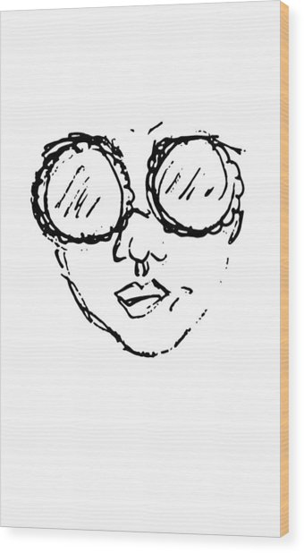Woman In Sunglasses Wood Print