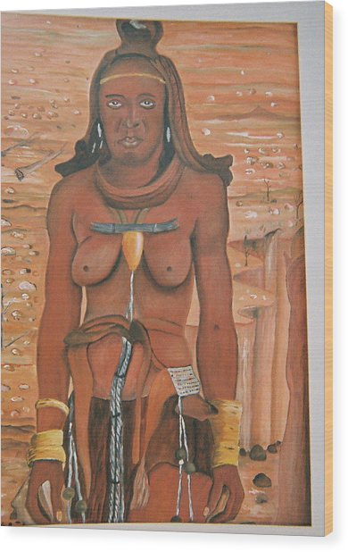 Woman In The Field Wood Print by Desenclos Patrick