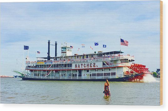 Woman Meets Natchez Wood Print