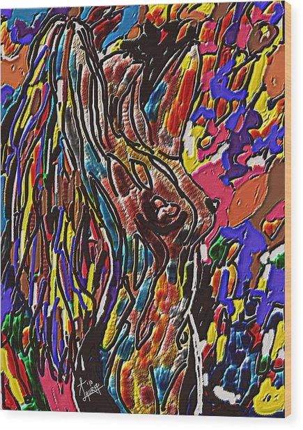 Woman Of Color Wood Print by Laura Fatta