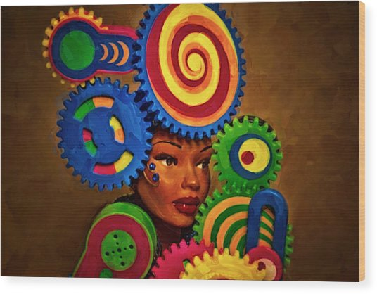 Woman Of Colors  Wood Print