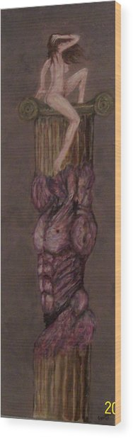 Woman On Top Wood Print by Francis Bourque