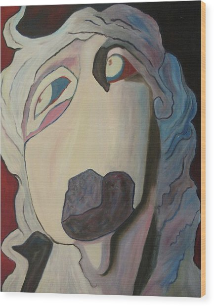 Woman Unable To Communicate Wood Print by Suzanne  Marie Leclair