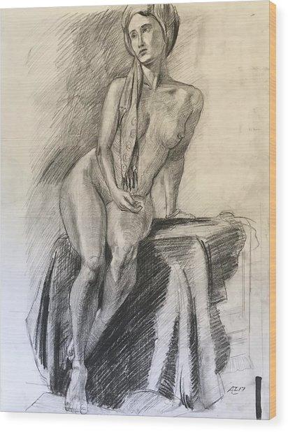 Woman With Turban Wood Print by Alejandro Lopez-Tasso