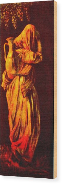 Woman With Water Jug Wood Print