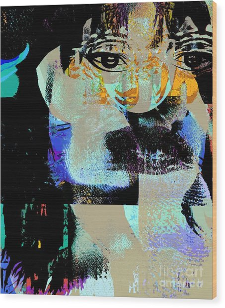 Womanhood Not For Sale Wood Print by Fania Simon