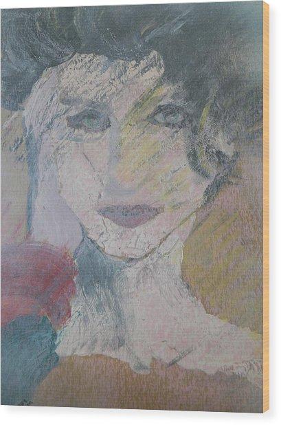 Woman's Portrait - Untitled Wood Print