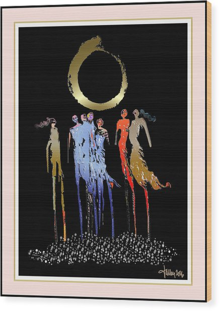 Women Chanting - Enso  Wood Print