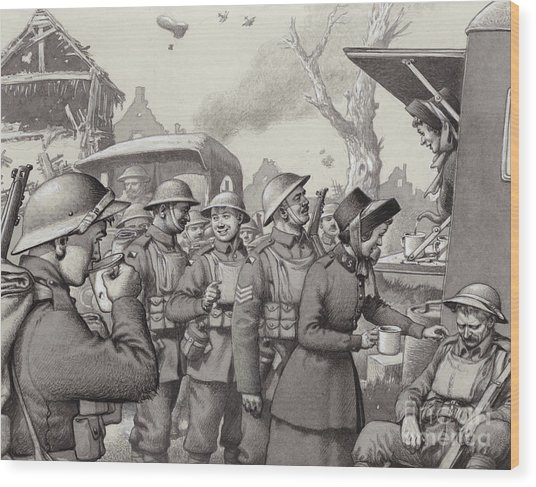 Women From The Salvation Army During The Great War Wood Print
