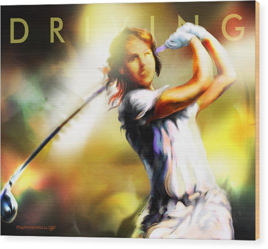 Women In Sports - Golf Wood Print