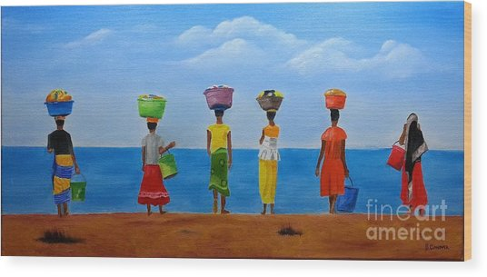 Women Of Africa  Wood Print