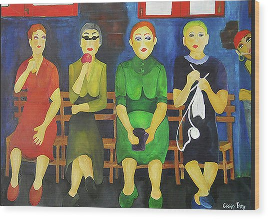 Women Of Budapest Wood Print