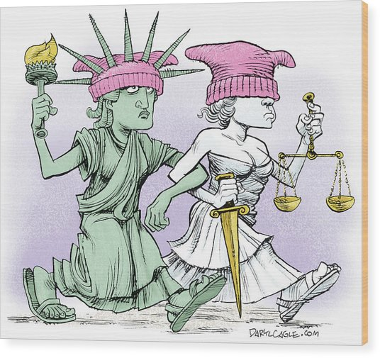 Women's March On Washington Wood Print