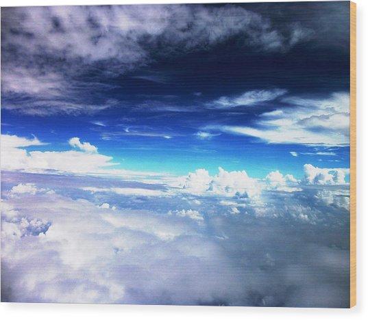 Wonder Of Cloudz Wood Print