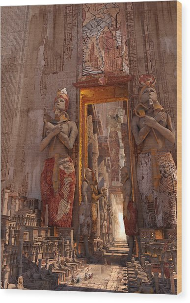 Wonders Door To The Luxor Wood Print