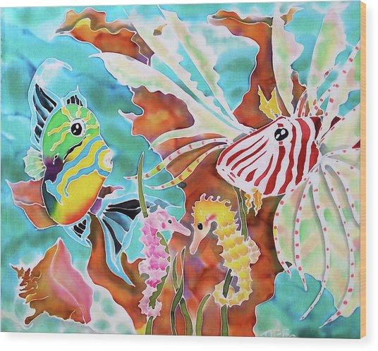 Wonders Of The Sea Wood Print