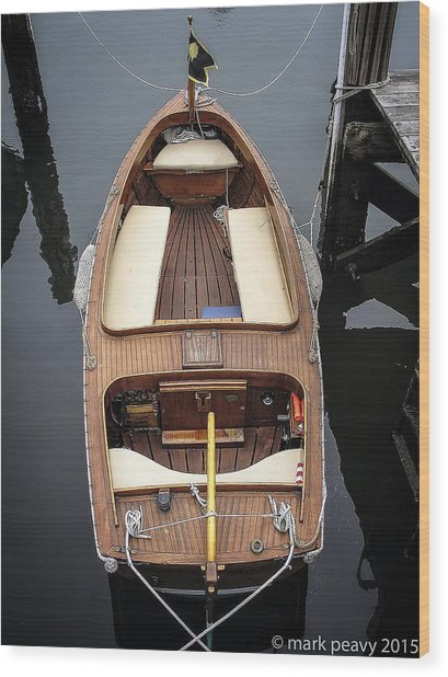 Wood Boat Nantucket Wood Print