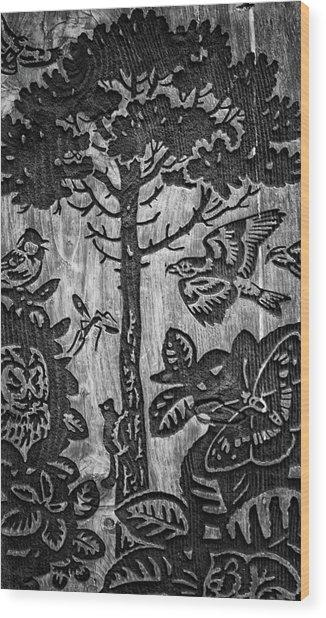 Wood Carvings Wood Print