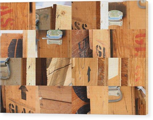 Wood Crates Wood Print