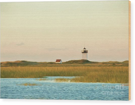 Wood End Lighthouse Wood Print