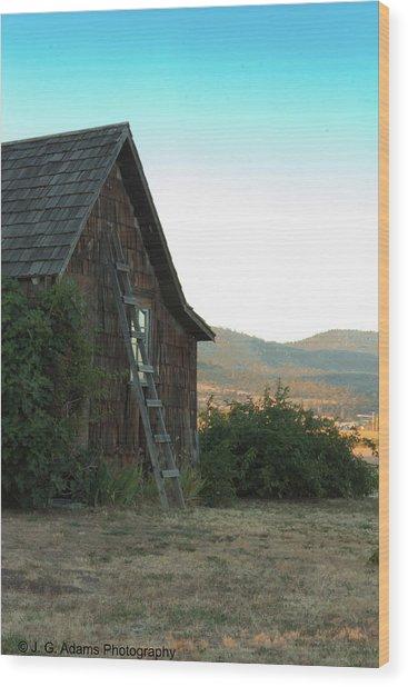Wood House Wood Print