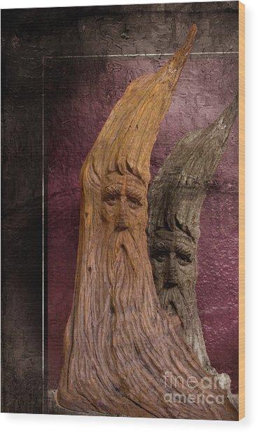 Wood Nymphs Wood Print