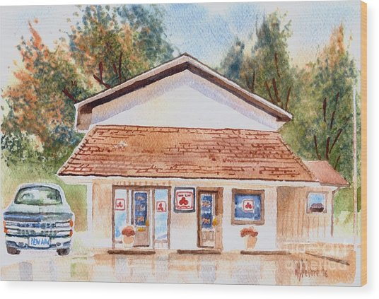 Woodcock Insurance In Watercolor  W406 Wood Print