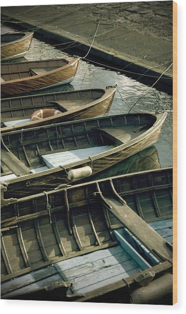 Wooden Boats Wood Print