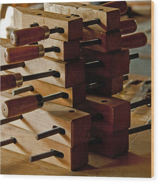 Wooden Clamps Wood Print