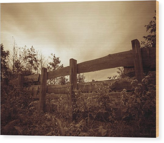 Wooden Fence Wood Print