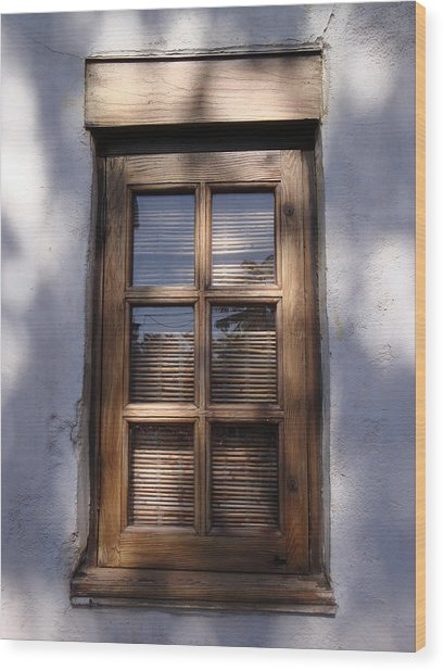 Wooden Window In The Shadows Wood Print by Kim Chernecky