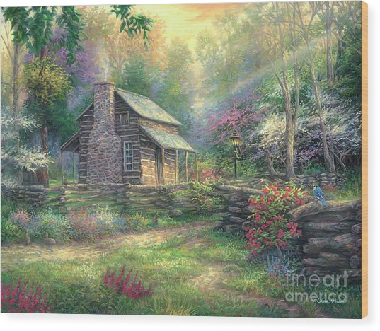 Woodland Oasis Wood Print