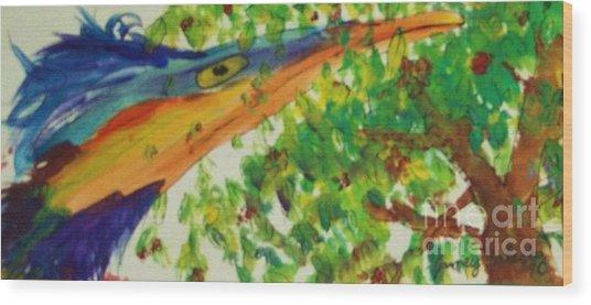 Woodpecker Wood Print by Jamey Balester