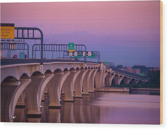 Woodrow Wilson Bridge Wood Print